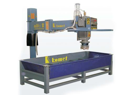 Machines for processing granite and marble